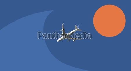 ferie luftfart passagerfly flyver fly flyvemaskine