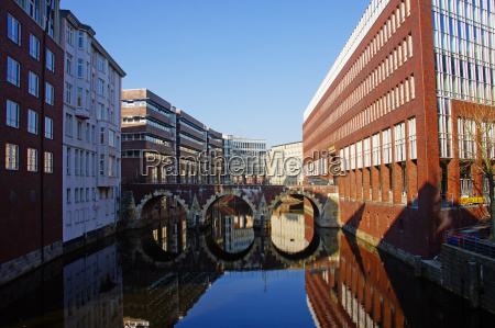 historisk bro spejling hamburg stil af