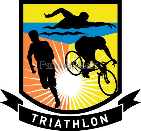 triathlon svomme cykel lob race