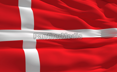 waving flag danmark