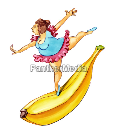overvaegtig kvinde dancing pa banan