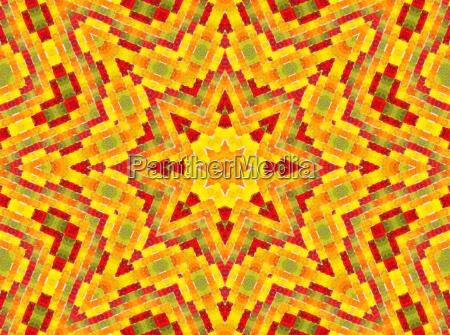 orange stjerne kost inspiration mandala