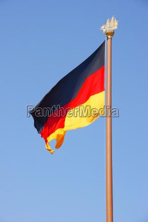 bla hamburg radhus det tyske flag