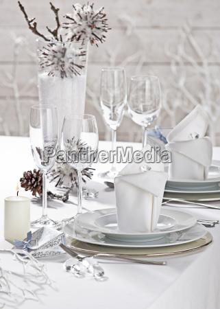 dekoration daekning festligt bryllup bordet service