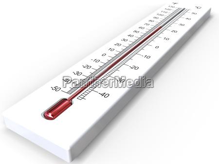 hvidt 3d termometer