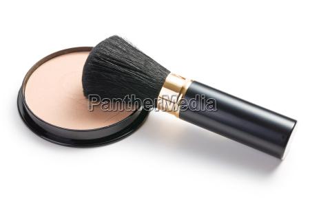 makeup borste og kosmetik pulver kompakt