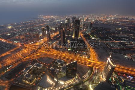 nat nattetid skyline luftfoto udsigt over