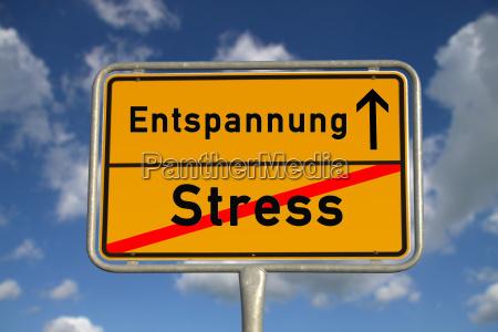 tyske sted tegn stress afslapning