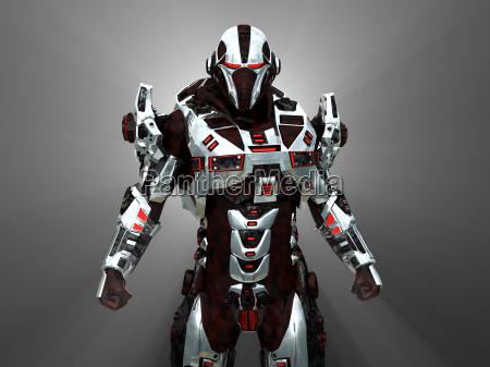 soldat futuristisk teknologi vaben automatiske maskine