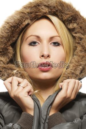 fashion portrait of a beautiful blonde