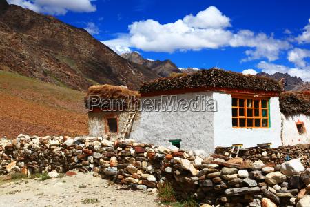 hus bygning indien tibet tradition bjerg