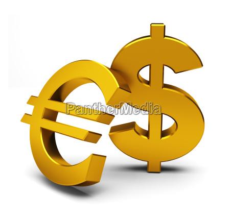 euro og dollar