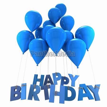tillykke med fodselsdagen med bla balloner