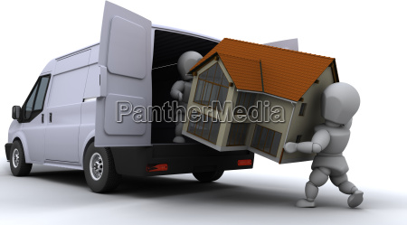 fjernelse maend lastning en varevogn