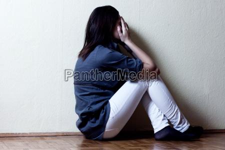 deprimeret tenage pige