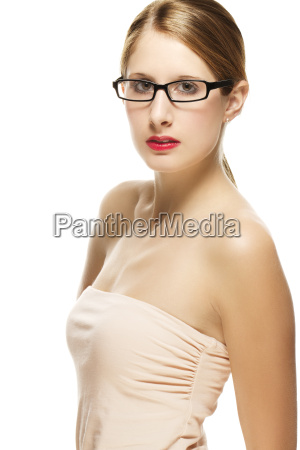 young woman with glasses and a