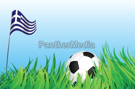 esporte esportes bola campo grecia bandeira