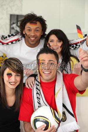 tyske fodboldfans