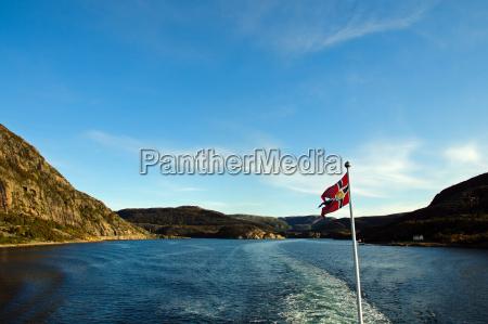 bla bjerge ferie norge rekreation flag