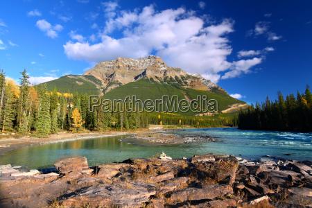 athabasca floden og kerkeslin bjerget