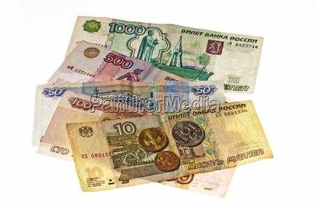 montfod valuta monter sedler regninger rusland