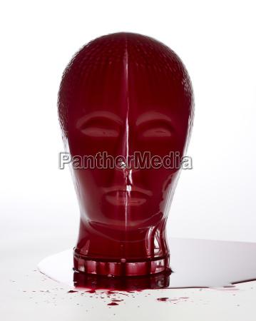 ansigt blod frontalt glasagtig glas hoved