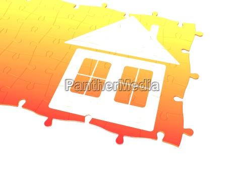 hus bygning farve gebis illustration del