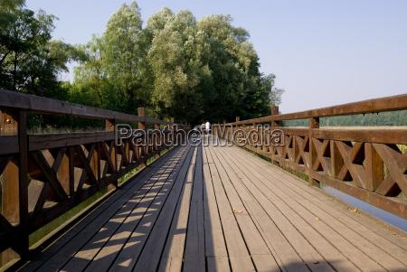 trae bro mellemstykke plankerne bohlen ferskvand