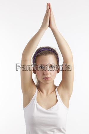kvinde sundhed koncentration harmoni yoga slank