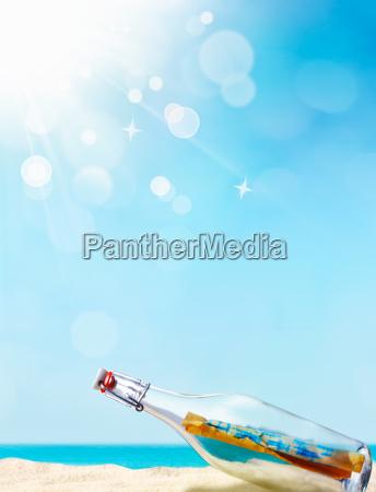 meddelelse i en flaske