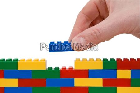 hand bygning lego