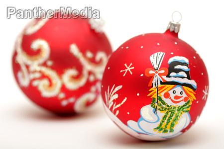 to rode jul bolde med tegning