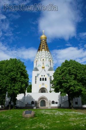 russian memorial church i leipzig