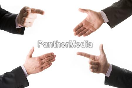 skilt signal gestus handbevaegelse vise hand