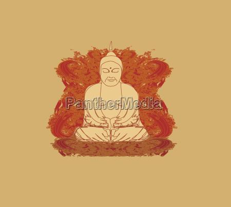 vektor af kinesisk traditionel kunstnerisk buddhisme