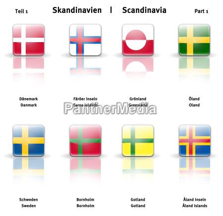 gronland danmark skinnende skandinavien provinsen ikoner