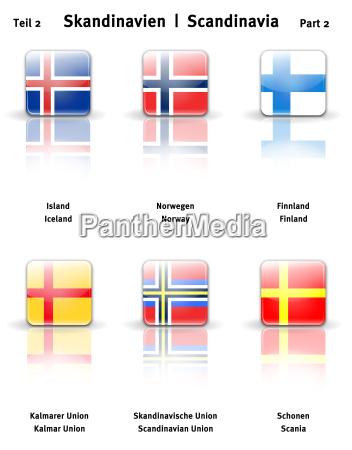 norge skandinavien island finland ikoner