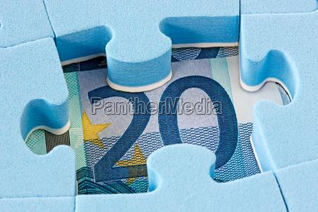 bla puslespil pa euro valuta