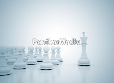 chess konge lederskab koncept