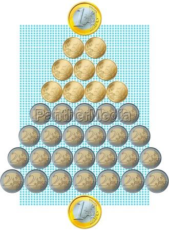 trae euro mont stjerner pil penge