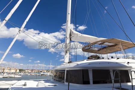 detail katamaran yacht detail katamaran