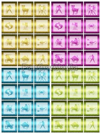 grafik fremtiden astrologi illustration zodiac horoskop