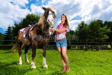 woman horse animal pony land realty