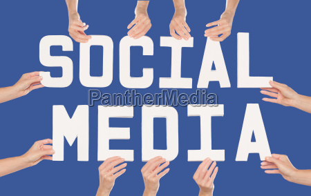 social media koncept over bla