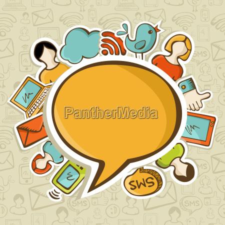 sociale medier netvaerk koncept kommunikation