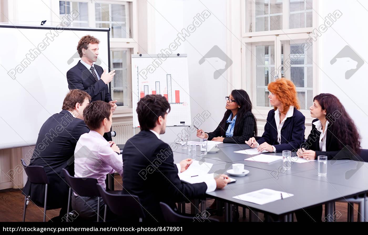 erhvervsfolk, på, et, bord, i, en - 8478901