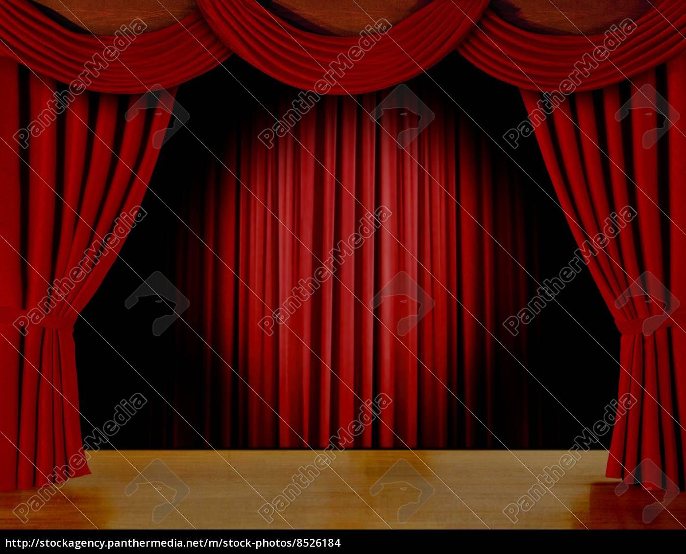 det røde gardin rødt gardin på scenen   Stockphoto   #8526184   PantherMedia  det røde gardin