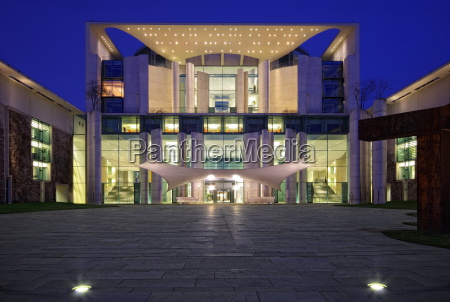 chancellery at the blue hour