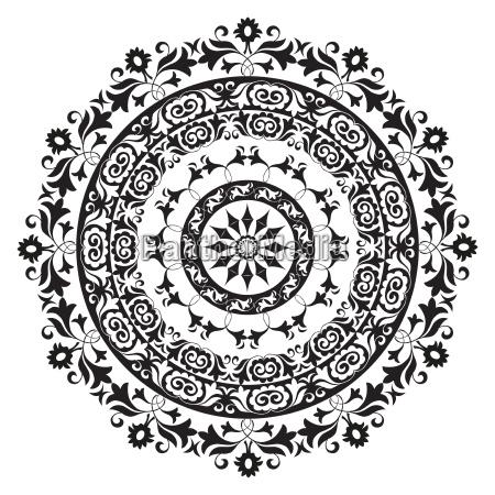 ornamentik illustration ornament orientalske dekorere orientale