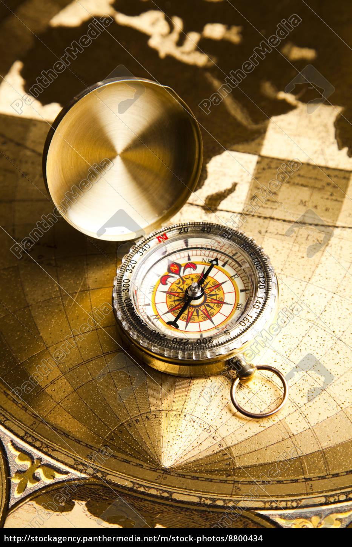 navigationsinstrument, kort, og, kompas - 8800434